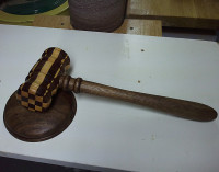 Black Mesquite and Castelo Boxwood Gavel
