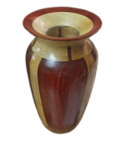 Sycamore and Padauk turned vase