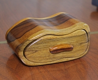 Black Limba and Queenwood bandsaw box
