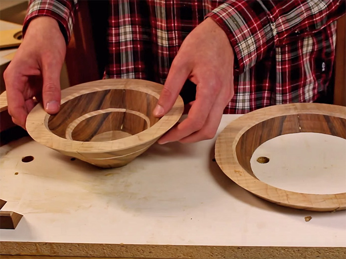 Stack each layer up successively to go from flat board to 3D bowl in seconds.