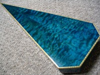 Quilted Maple (dyed blue)