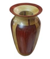 Sycamore and Padauk turned vase